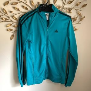 ADIDAS▪️Teal Track Zip front Jacket. S